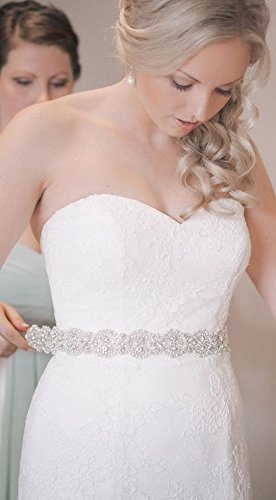 materiali superiori 50-70% di sconto reputazione prima ShinyBeauty Passamaneria per abiti da sposa, con strass ...