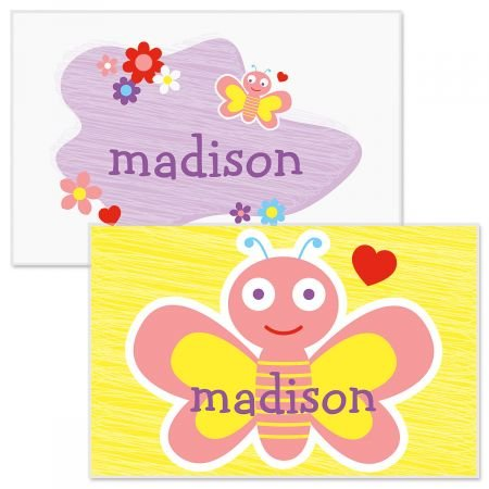 Personalized Kids Butterfly Placemat - 11