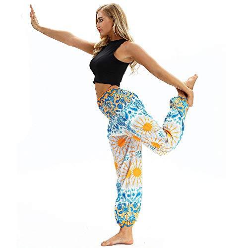 Polyester Baggy Trousers Trousers Women Boho Xmiral Hippy Yoga Casual Loose Print Pants White1 Men Pants Harem wq4SnExRU