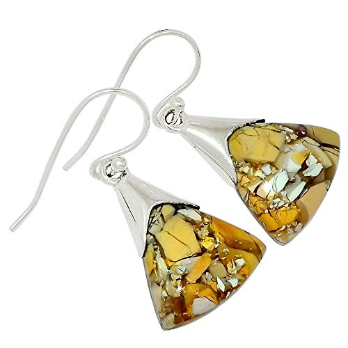 Xtremegems Brecciated Mookaite 925 Sterling Silver Earrings Jewelry 1 3/8