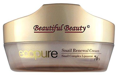 ECOPURE SNAIL RENEWAL CREAM 50ml WITH SNAIL SECRETION FILTRATE COMPLEX LIPOSOME 76