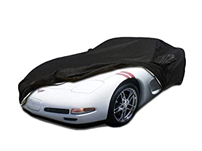 C5 1996-2004 Chevy Corvette Custom Car Cover for 5 Layer Heavy Duty Waterproof Black Ultrashield