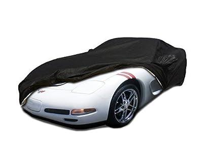 C5 1996-2004 Chevy Corvette Custom Car Cover for 5 Layer Heavy Duty Waterproof Black Ultrashield