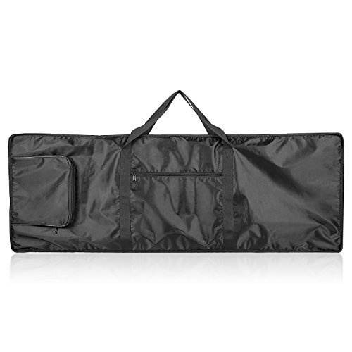 Neewer 88-Key Keyboard Bag with Extra Pockets for Electric Piano, Made of Durable and Waterproof Nylon, Adjustable and Portable Backpack Straps, Black ()