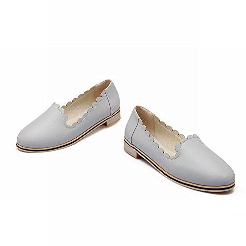 Latasa Womens Chic Slip On Low Chunky Comfort Shoes, Scarpe Casual, Mocassini Grigi