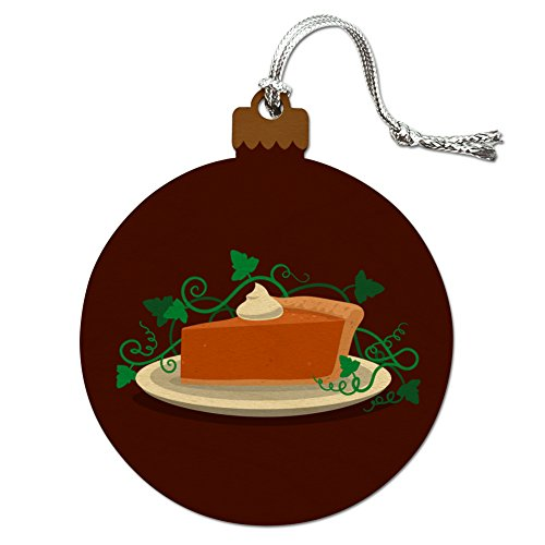 Pumpkin Pie Wood Christmas Tree Holiday Ornament