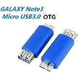 【PCATEC】 Galaxy NOTE3対応  USB3.0-USB Aメス OTG変換アダプタ★ブルー