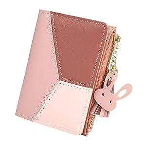 Women's Wallet, JOSEKO Small Wallet PU Multi Slots Short Card Holder Purse Wallet for Ladies Girls with Tassel Pendants