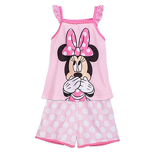 Disney Minnie Mouse Pink Short Sleep Set for Girls Size 5/6 Multi]()
