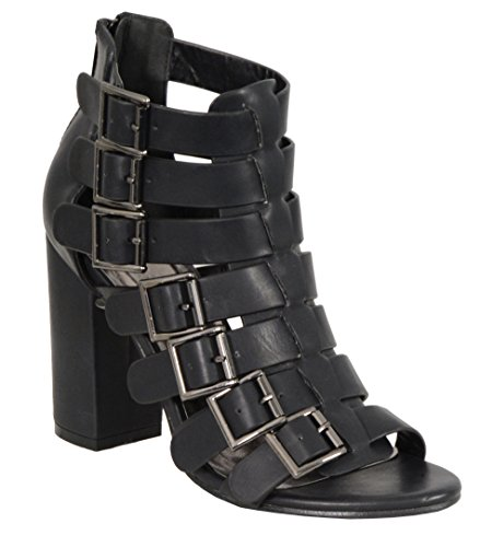 Price comparison product image Milwaukee Performance Women's Strappy Sandal with Block Heel (Black