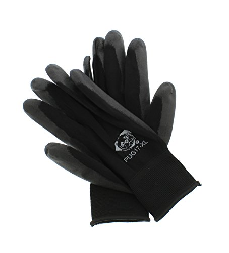 (Global Glove PUG-17 Lightweight Seamless General Purpose PU Dipped Glove, Black, X-Large, 12-Pack)