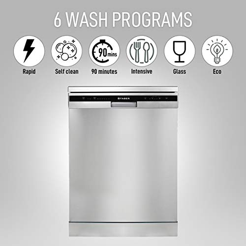 Faber FFSD 6PR 12S, Inox Finish, Energy Efficient, Intensive Rapid Wash 12 Place Setting Dishwasher