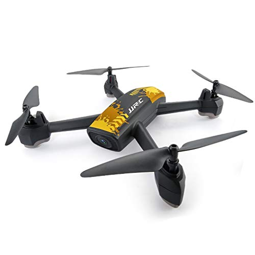 WANG XIN Professional Drone GPS Positioning Return Four-axis Aircraft 720P HD Aerial Remote Control Aircraft (Color : Yellow) by WANG XIN (Image #1)