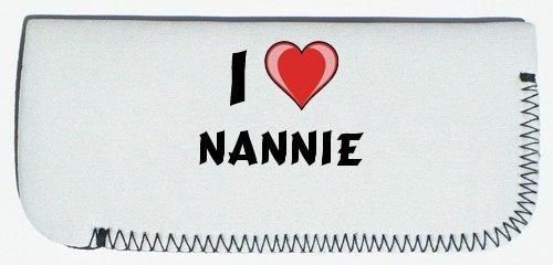 Glasses Case with I Love Nannie (first name/surname/nickname) SHOPZEUS