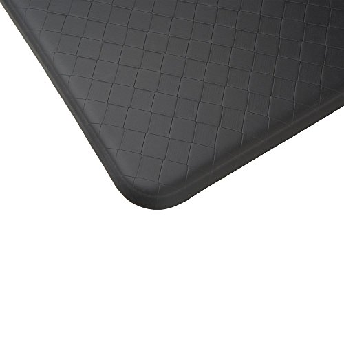 Imprint Cumulus9 Kitchen Mat Nantucket Series 20 in. x 36 in. x 5/8 in Black