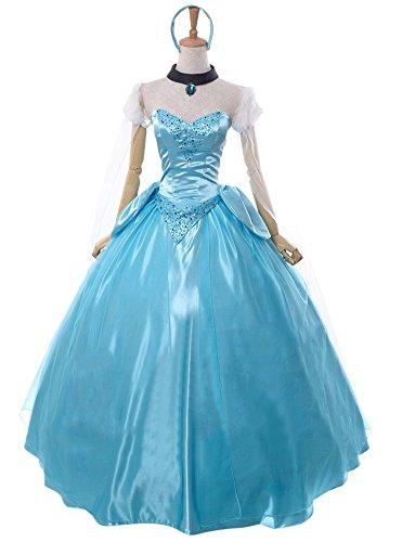 Ace Deluxe Adult Women's Cinderella Princess Costumes Dress Custom-made (L) (Custom Made Disney Princess Costumes)