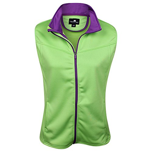 The Weather Apparel Co Poly Flex Golf Vest 2017 Women Lime/Purple Medium by The Weather Apparel Co (Image #1)
