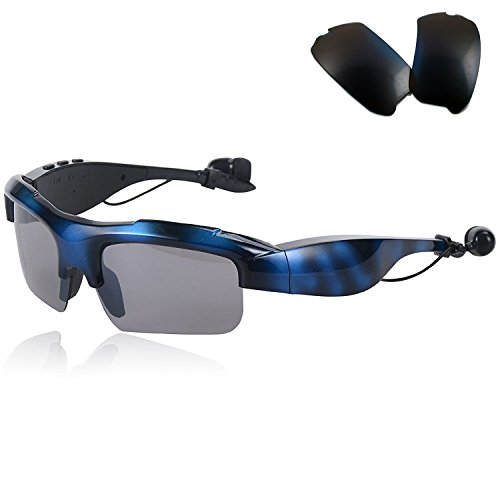 Bluetooth Sunglasses Wireless Sport Glasses Stereo Music Sunglasses Headset Headphones with Replacement Polarized Lens For Men Women Samsung Galaxy S8 S7 S6 S5 Huawei Lg Alcatel iPhone 8 7 7 - Sunglasses With Music