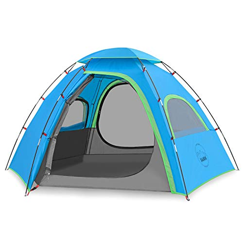 🥇 KAZOO Outdoor Camping Tent Family Durable Waterproof Camping Tents Easy Setup Two Person Tent Sun Shade 2/3 Person