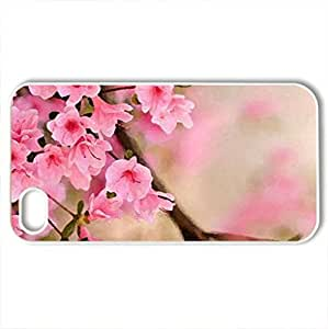 Beautiful Sakura Blossoms - Case Cover for iPhone 4 and 4s (Flowers Series, Watercolor style, White)
