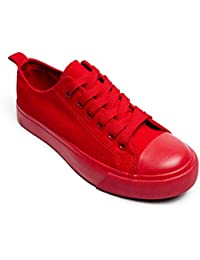 Women Canvas Sneakers, Low Cut Low Top Lace up Flat...
