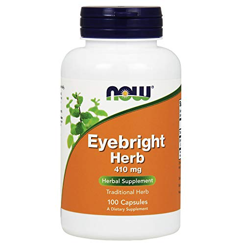 NOW Supplements, Eyebright Herb 410 mg, Herbal Supplement, 100 Veg Capsules