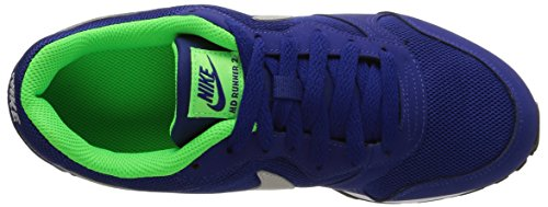 Nike MD Runner 2 (GS) Zapatillas de Running, Niños Azul (Deep Royal Blue / Wolf Grey Wht)