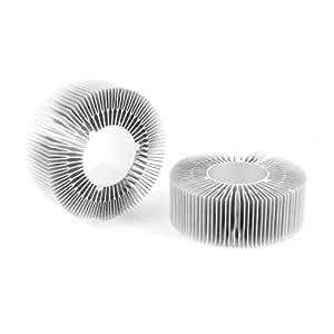 2 piezas de 115 mm de diámetro exterior 50mm ID 40mm LED de luz de alta disipador de calor de aleta de enfriamiento más fresco
