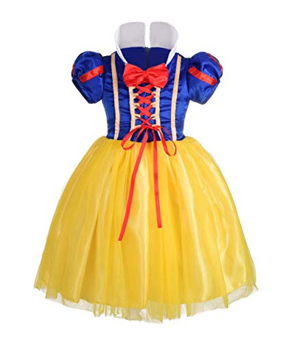 Dressy Daisy Girls' Princess Snow White Costume Fancy Dresses Up Halloween Party Size 5]()