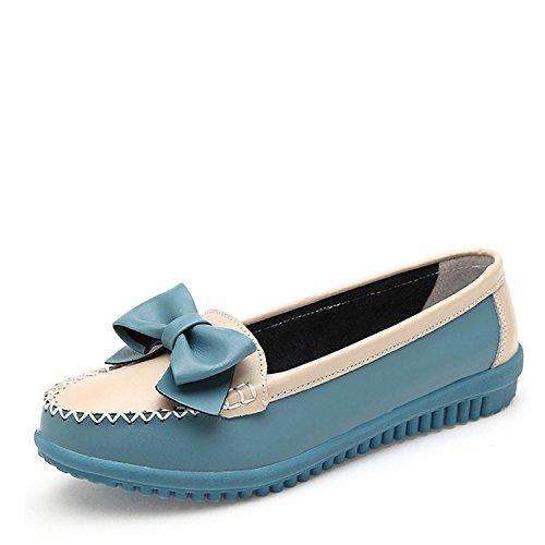 b74e8b07e Spilt Leather Shoes Women Soft Women Loafers Slip-On Flat Shoes Women Flats  Ballet Shoes
