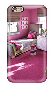 New Style ZippyDoritEduard Teen Girl8217s Room With Pink Walls 038 Twin Beds Premium Tpu Cover Case For Iphone 6