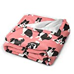 """WdRaIn Border Collie Dog Cute Blanket Flannel Fleece Blanket Soft Microfiber Blanket for Sofa Office Bed and Travelling 50""""x40"""" 7"""