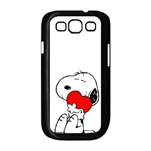 Samsung Galaxy S3 9300 Cell Phone Case Black Charlie Brown and Snoopy