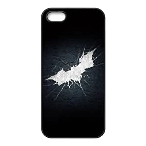 Batman Shattered Logo iPhone 4 4s Cell Phone Case Black Delicate gift JIS_391887