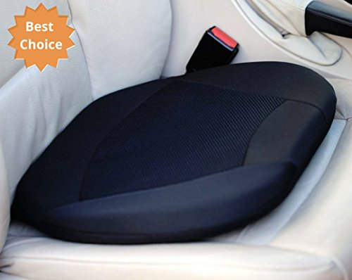 Kenley Car Gel Seat Cushion Memory Foam - Sold in Elegant Gift Box - Auto Car Seat Cushion Lower Back Support