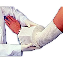 "Derma Sciences GL211 Cotton Tubular Gauze, Hands, Wrists, Feet, 50 yd Roll, 1.5"" Width, Size 3, Beige"