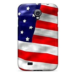 Cute Tpu Luckmore American Flag Case Cover For Galaxy S4