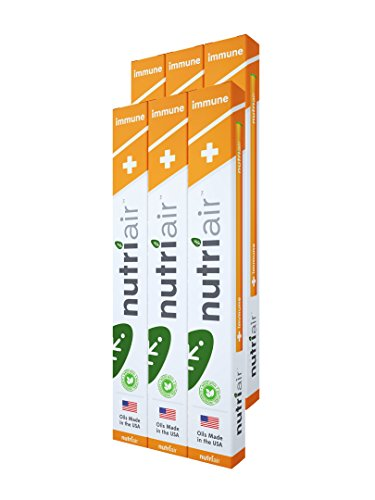 Nutriair Immune Inhaler - Nutritional Aromatherapy Pen- Daily Support for Healthy Immune System - Strengthen Overall Health and Well-Being - Great Tasting Immune Booster with Vitamin C (6 Pack)
