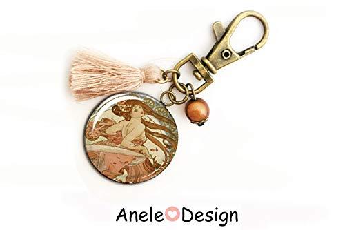 Porte,clés motif La danse d\u0027\u0027Alphonse Mucha art nouveau