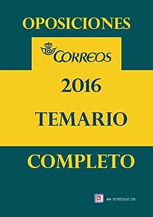 Oposiciones Correos 2016: Temario Completo eBook: MORALES, ANTONIO, MORALES CARMONA, ANTONIO: Amazon.es: Tienda Kindle