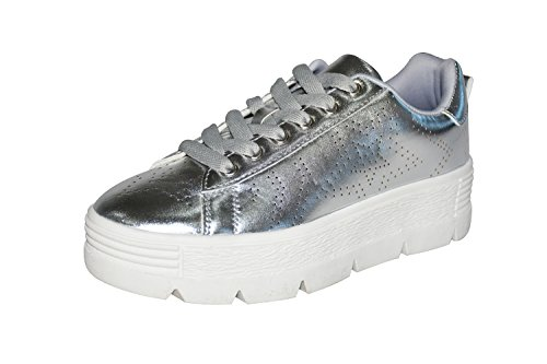 ROXY ROSE Platform Shoes for Women Quilted Shoelaces Square Toe Fashion Sneaker (10 B(M) US, (Platform Fashion)