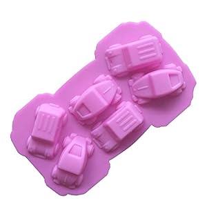 Hosaire - Stampo da Pasticceria, Pratico Stampo in Silicone per Gelato Fondente 3D Torta a Forma di Auto 6 cavità… 4 spesavip