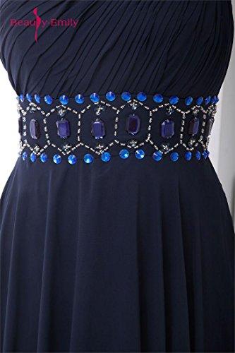 Vestiti Fiore emily Monospalla Dal Strass Handmade Scuro Beauty Blu XNwP8nk0O
