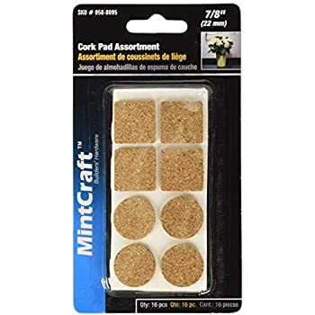1 In Dia MINTCRAFT FE-50702 ProSource Self-Adhesive Furniture Pad Round Brown
