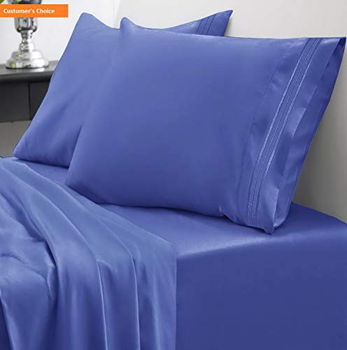 T-shirt Dachshund Fitted - Mikash 1800 Thread Count Sheet Set - Soft Egyptian Quality Microfiber Hypoallergenic Sheets - Luxury Set with Flat Sheet, Fitted Sheet, 2 Pillow Cases, Queen, Royal Blue | Style 84597137