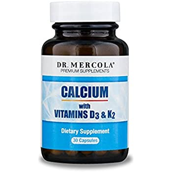 Dr. Mercola Calcium with Vitamins D3 and K2-30 Capsules