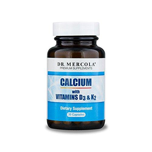 Dr. Mercola Calcium with Vitamins D3 and K2-30 Capsules