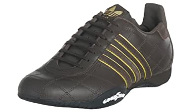 new concept ec6cd 1cad9 ... switzerland adidas originals mens tuscany leather driving shoe  chocolate gold blk 36485 0f74a