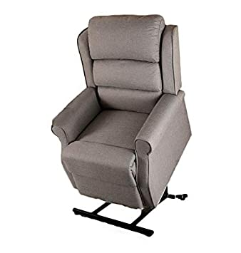 Excellent Brown Or Black Bonded Leather Electric Riser Recliner Mobility Chair Lift And Rise Tilt Recline Armchair Grey Linen Fabric Machost Co Dining Chair Design Ideas Machostcouk