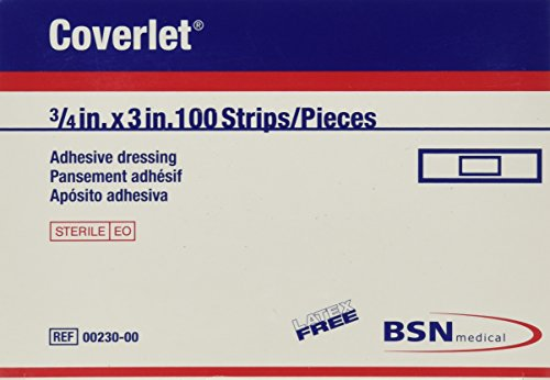 BSN Medical Coverlet Latex-Free Adhesive Dressings Strips, 100 Count